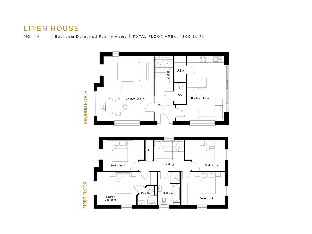 Floorplan 1 of The Linen House, The Mill Pond, Mill Village, Comber