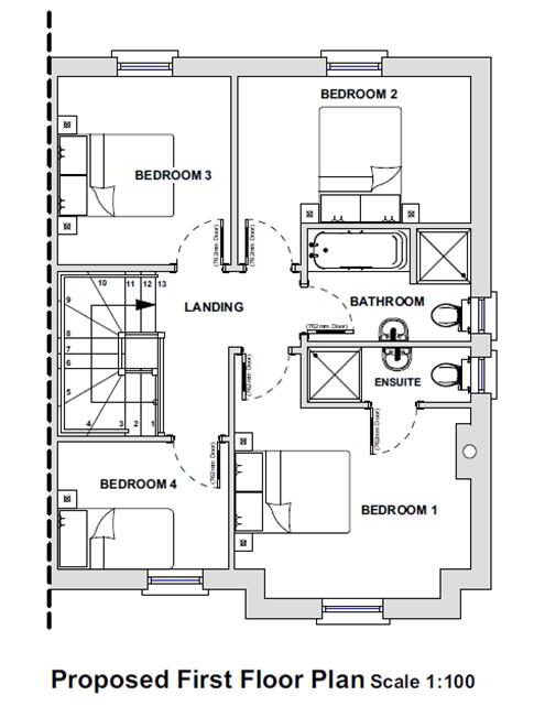Floorplan 2 of House Type F, Bluebell Glade, Leambreslin, Lisbellaw