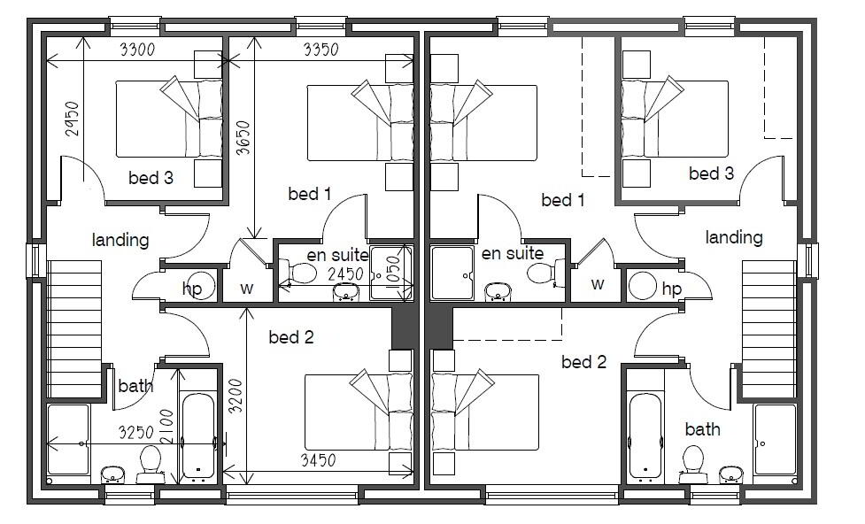 Floorplan 5 of Semi Detached, Gray Hill Meadows, Main Street, Clabby