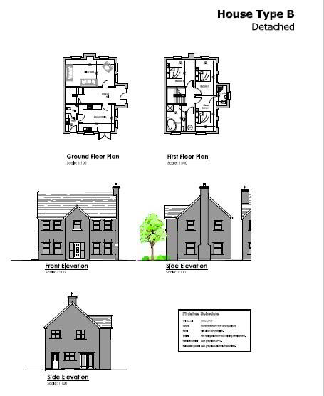 Floorplan 1 of House Type B, Millbrook, Washingbay Road, Coalisland