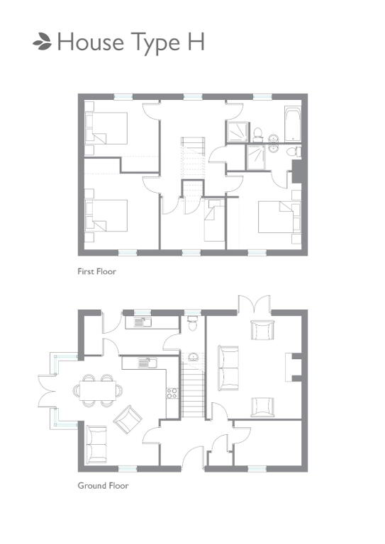 Floorplan 1 of Detached- 4 Bed (Type H), Carn Hill, Lisnarick Road, Irvinestown