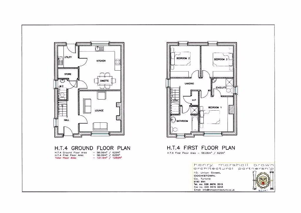Floorplan 2 of House Type 4, Carryview, Coagh, Urbal Road, Coagh