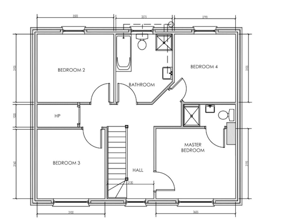Floorplan 2 of House Type A, Shanmoy Downs, Eglish, Dungannon