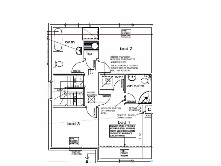 Floorplan 2 of 3 Bed Semi Detached House, St Julian's Close, Omagh