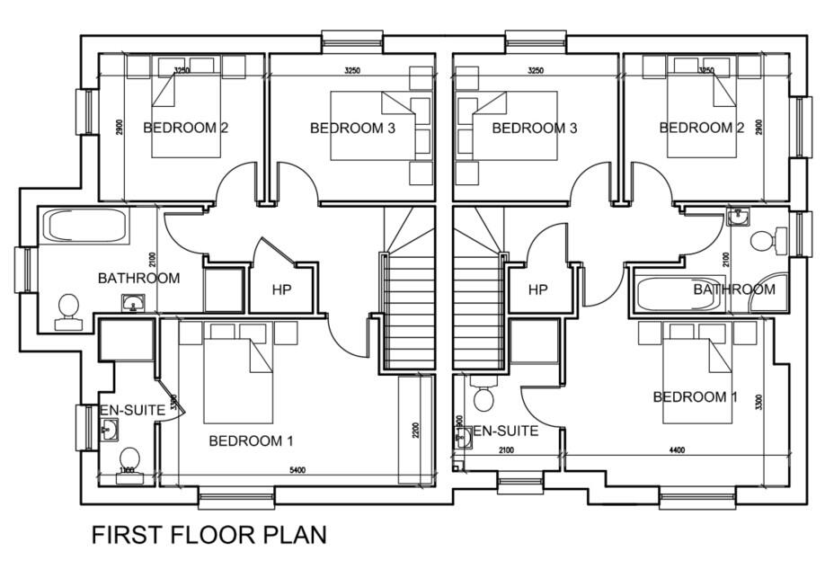 Floorplan 1 of House Type E, Moorwood Drive, Moortown, Cookstown