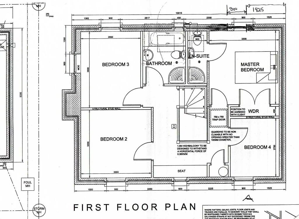 Floorplan 2 of House Type A, Ardess Glebe, Ardess, Kesh