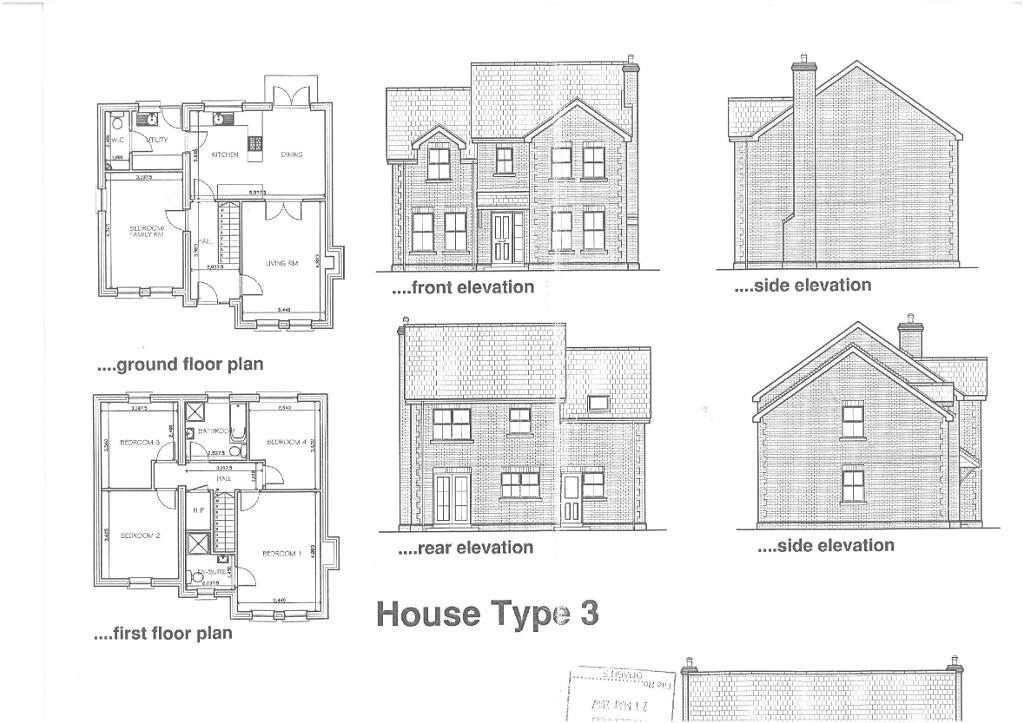 Floorplan 1 of House Type 3, Shanmoy Downs, Eglish, Dungannon
