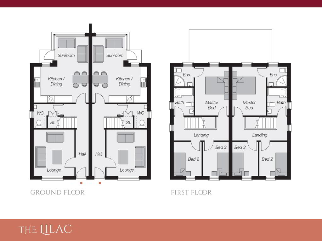 Floorplan 1 of The Lilac, Ro Rua, Moneynick Road, Toomebridge