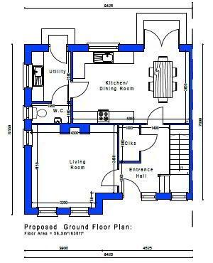 Floorplan 2 of House Type 23A, Cloneen Crescent, Cloneen Crescent, Maghera