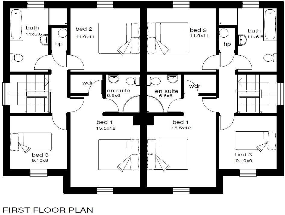Floorplan 2 of Type 2, St Julian's Meadows, Omagh