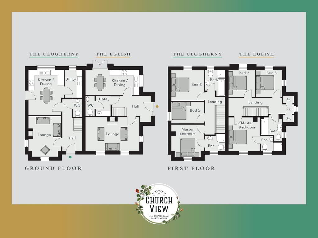 Floorplan 1 of The Clogherny, Church View, Ballygawley, Omagh