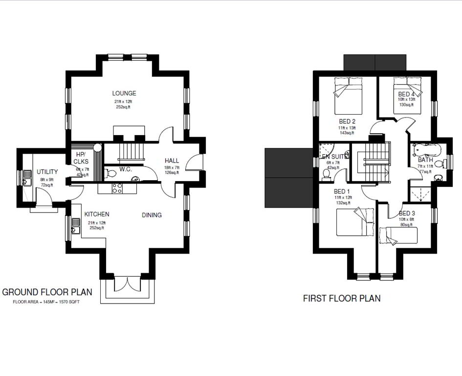 Floorplan 1 of Detached Property, Knockcarra Dell Development, Old Mountfield Road, Omagh