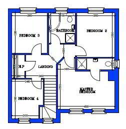 Floorplan 3 of House Type 17A, Cloneen Crescent, Cloneen Crescent, Maghera