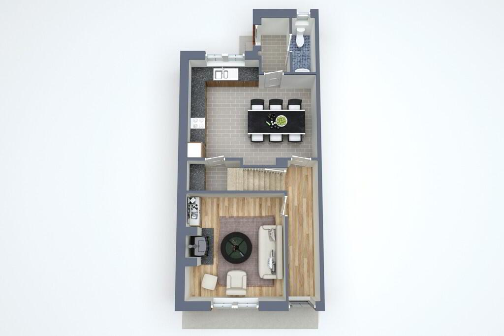 Floorplan 1 of Townhouse 4B, Linen Hall, Loughgall Road, Portadown