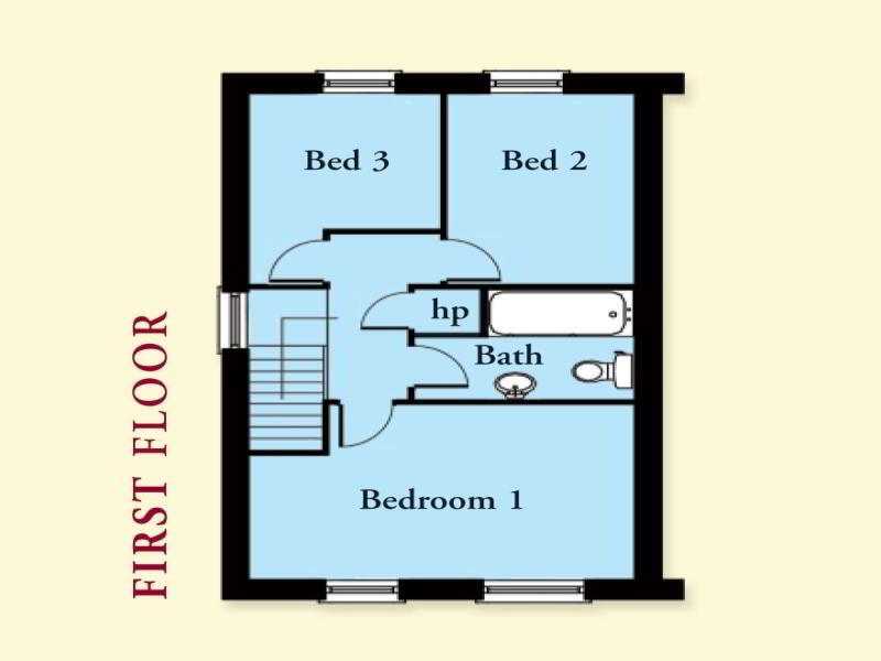 Floorplan 2 of The Audley, Olivers Close, Ballygalget, Portaferry