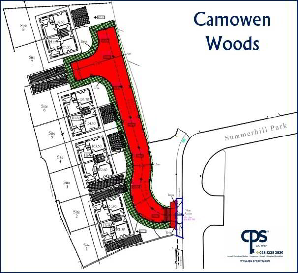Floorplan 3 of House Type A, Camowen Woods, Omagh