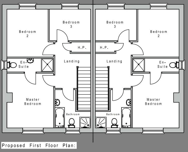 Floorplan 2 of House Type A1, Camowen Woods, Omagh