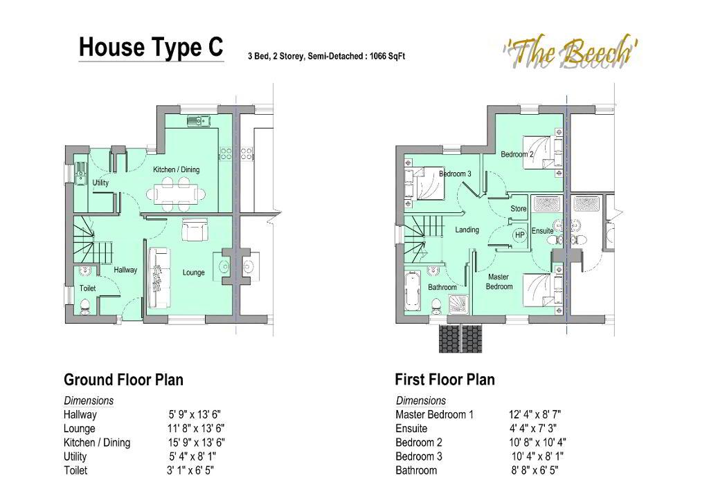 Floorplan 3 of Gortnessy Meadows, Derry/ Londonderry