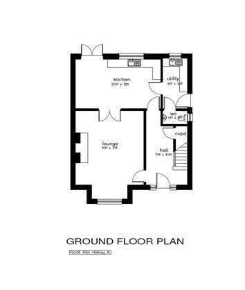 Floorplan 1 of 4 Bed Detached House, Millstone Drive, Scallen Road, Irvinestown