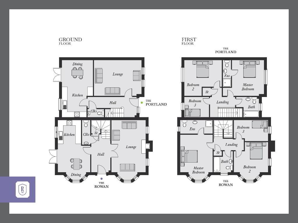 Floorplan 1 of The Rowan, Rowanvale, Green Road, Conlig, Bangor