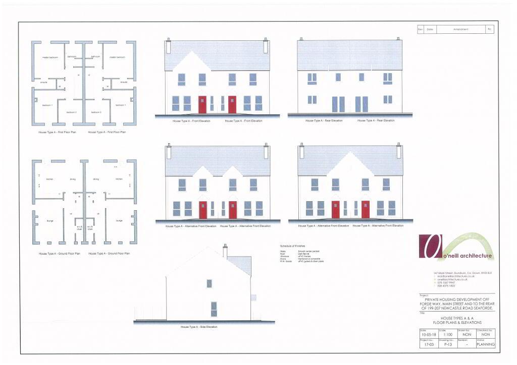 Floorplan 2 of Type 'A', Forde Gardens, Seaforde, Seaforde