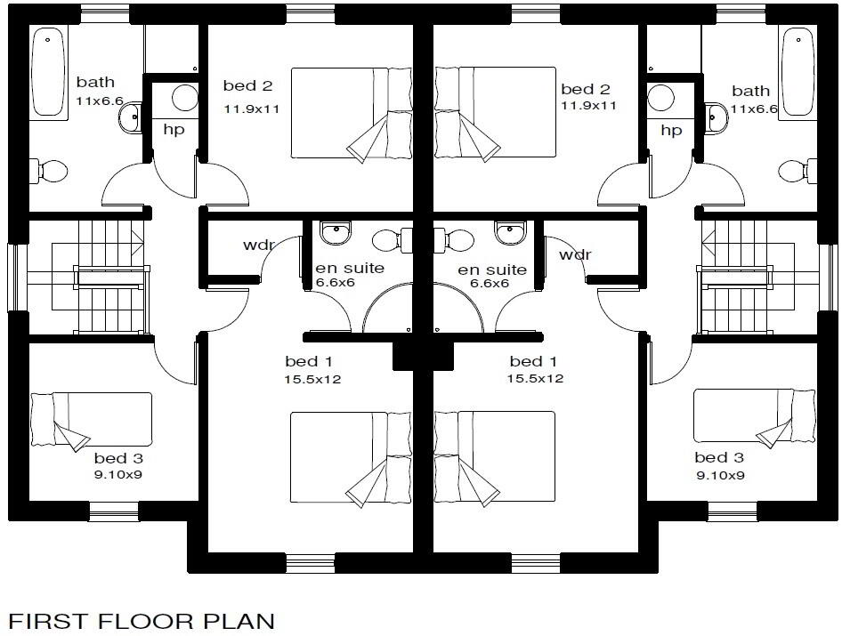 Floorplan 2 of Type 1, St Julian's Meadows, Omagh