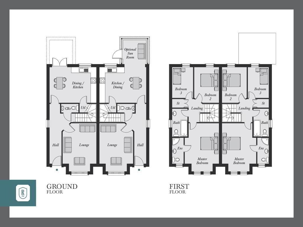 Floorplan 1 of The Dunbridge, Rowanvale, Green Road, Conlig, Bangor
