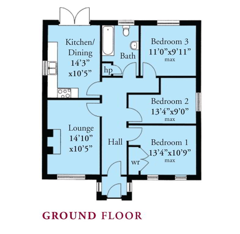 Floorplan 1 of The Gilpin, St Andrews Point, Ballyhemlin, Ballyhalbert