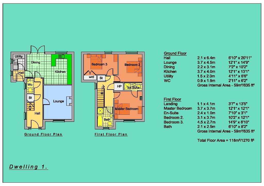 Floorplan 3 of Semi-Detached Houses, New Development, Circular Road, Omagh