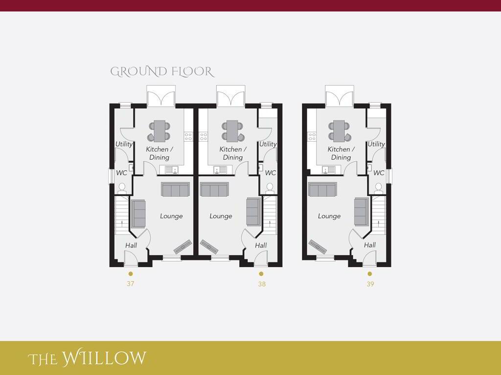 Floorplan 1 of The Willow, Ro Rua, Moneynick Road, Toomebridge