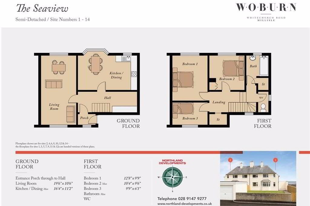 Floorplan 1 of Seaview, Woburn, Whitechurch Road, Millisle
