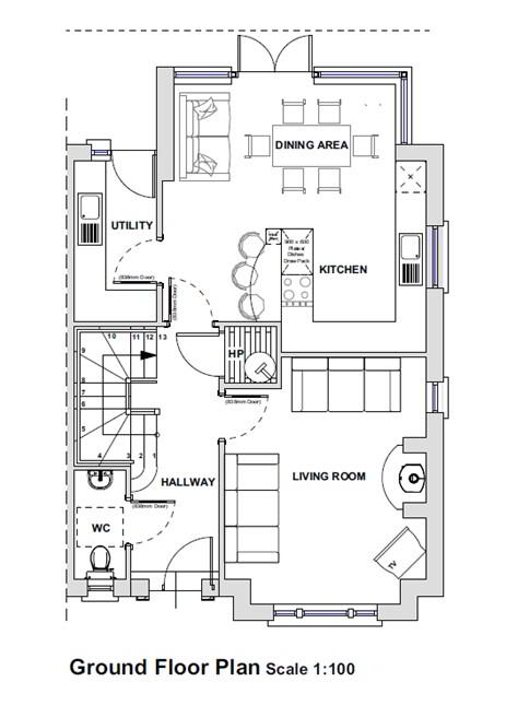 Floorplan 1 of House Type F, Bluebell Glade, Leambreslin, Lisbellaw
