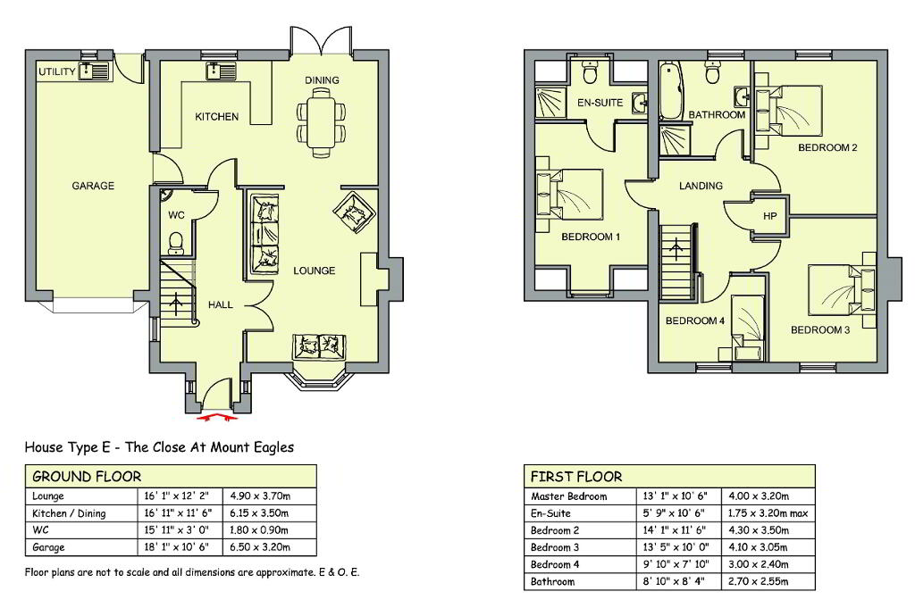 Floorplan 1 of Type E, The Close At Mount Eagles, Mount Eagles, Stewartstown Road, Belfast