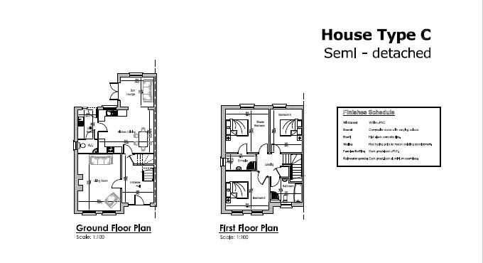 Floorplan 2 of House Type C, Millbrook, Washingbay Road, Coalisland