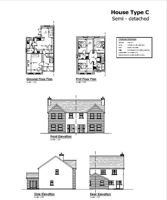 Floorplan 1 of House Type C, Millbrook, Washingbay Road, Coalisland
