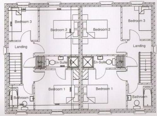 Floorplan 1 of 3 Bedroom Semi-Detached, Hutton Drive, Main Street, Beragh, Omagh