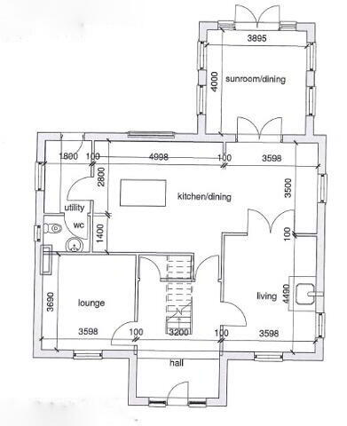 Floorplan 1 of Type 3, Dervaghroy Manor, Church Road, Gortaclare, Omagh