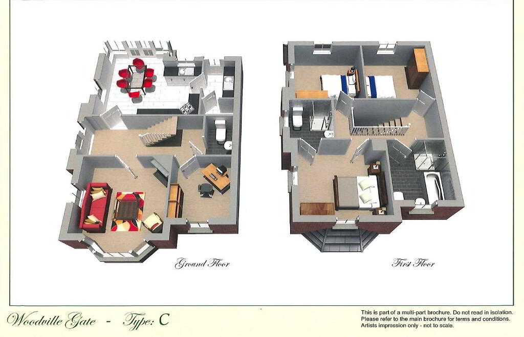 Floorplan 1 of C, Woodville Gate, Lurgan