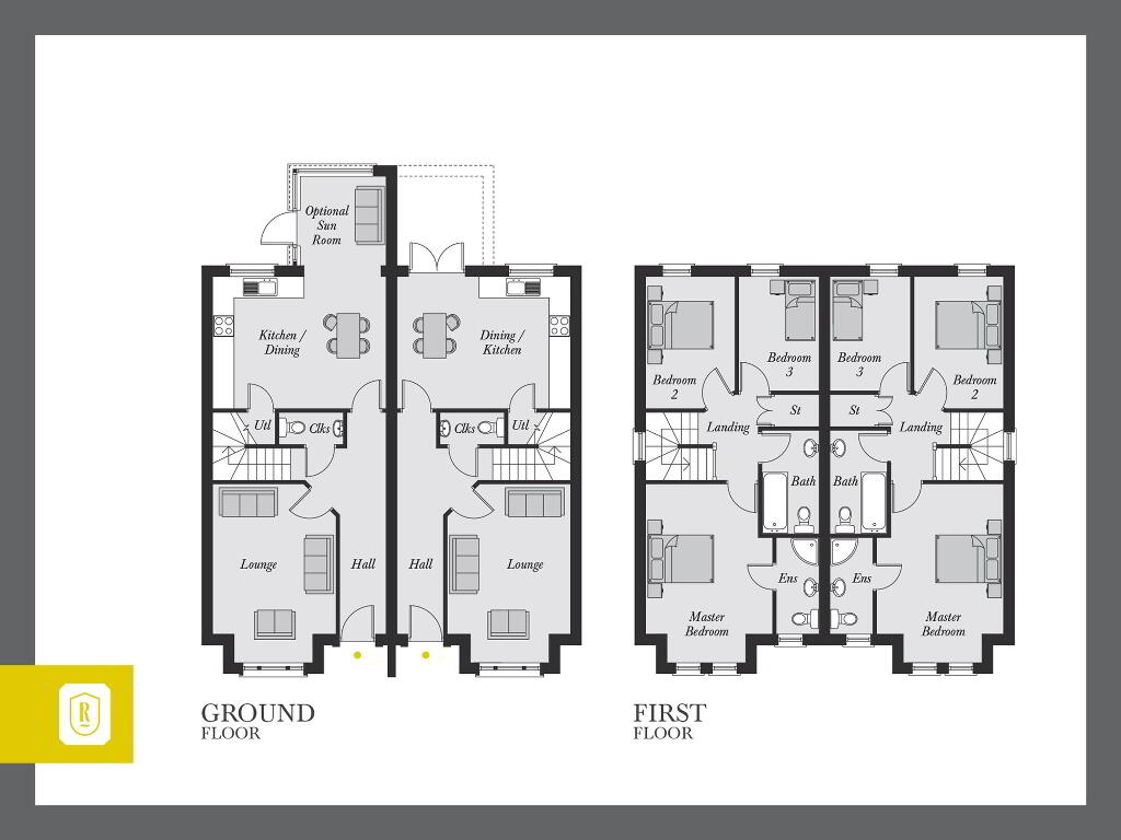 Floorplan 1 of The Barton, Rowanvale, Green Road, Conlig, Bangor