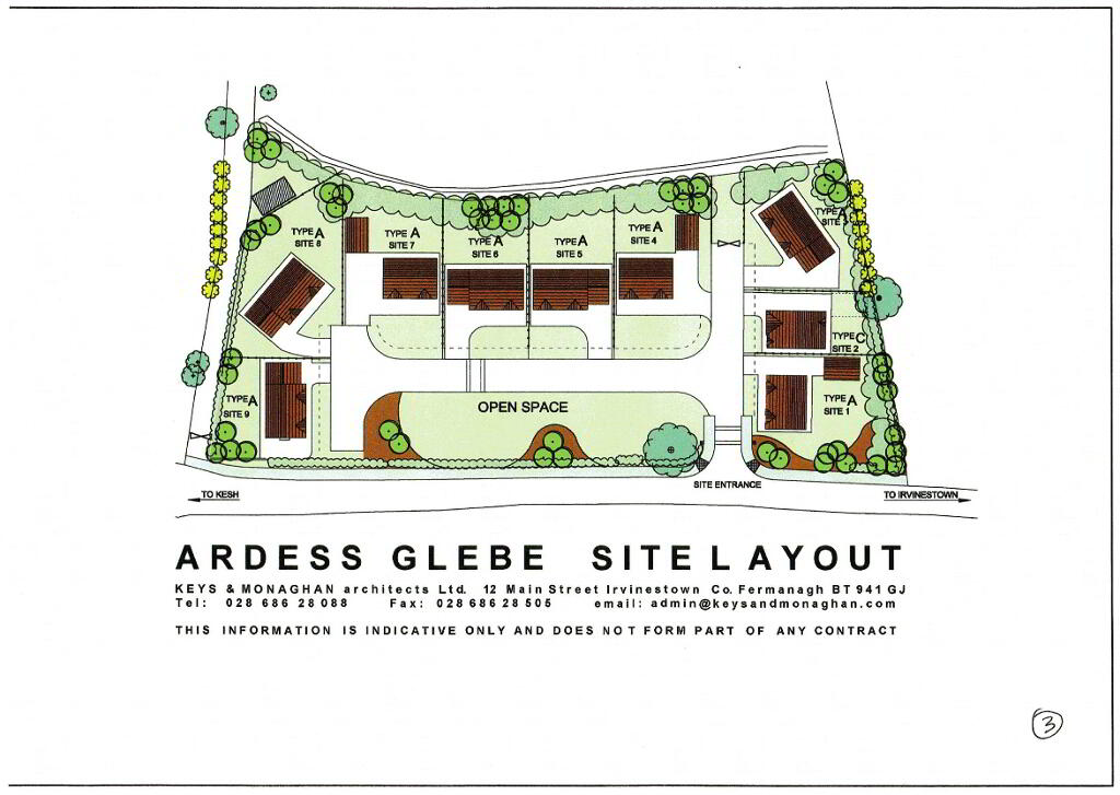 Floorplan 4 of House Type A, Ardess Glebe, Ardess, Kesh