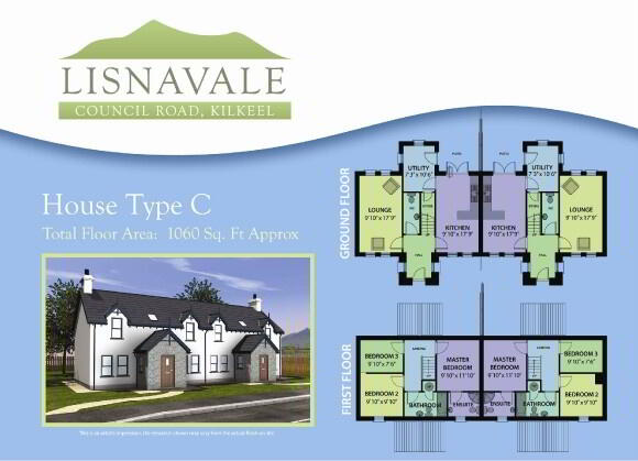 Floorplan 1 of House Type C, Lisnavale, Council Road, Kilkeel