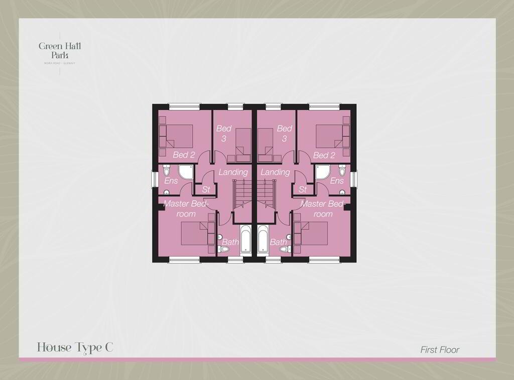 Floorplan 2 of House-Type C, Green Hall Park, Main Street, Glenavy