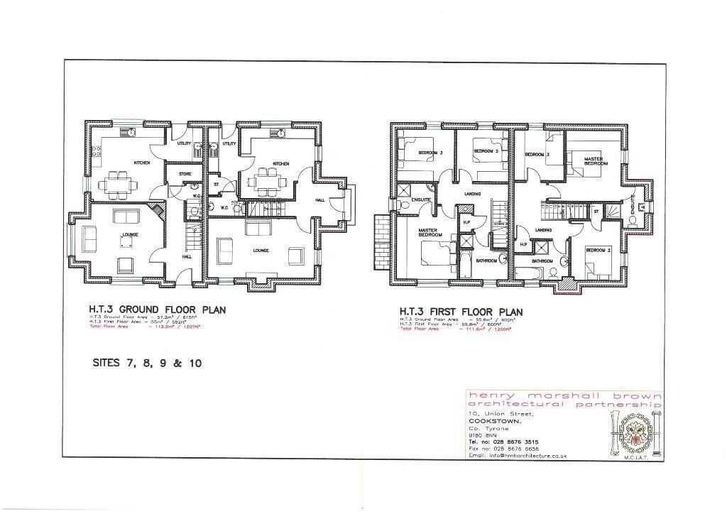 Floorplan 2 of House Type 3, Carryview, Coagh, Urbal Road, Coagh