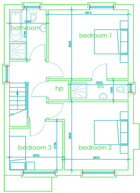 Floorplan 2 of Three Bedroom Detached (Htb), Monree Hill, Banbridge, Donaghcloney