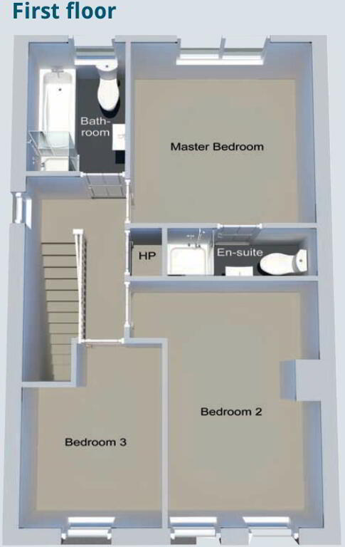 Floorplan 2 of Semi-Detached Type C, Edenderry Drive, Maydown Road, Benburb
