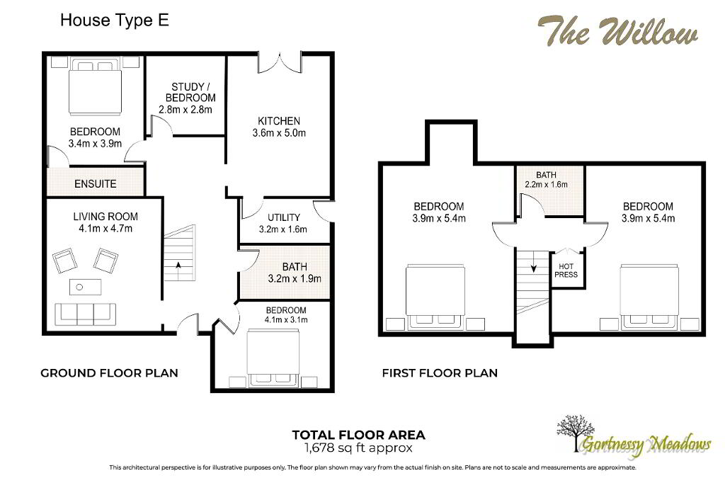 Floorplan 1 of The Willow, Gortnessy Meadows, Derry/ Londonderry