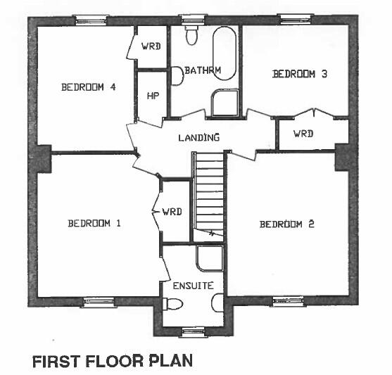 Floorplan 3 of House Type 2, Corradinna Lane, Corradinna Road, Omagh