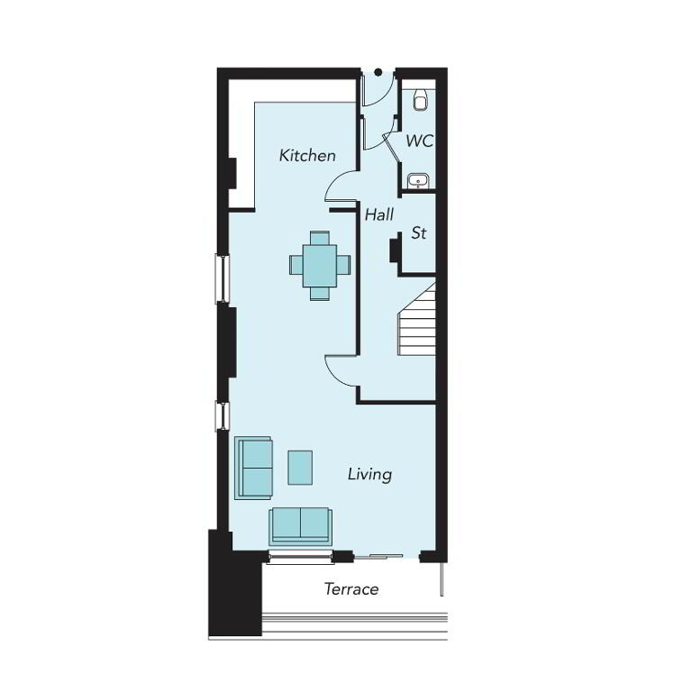 Floorplan 2 of G06, Portland 88, Belfast City Centre, Belfast