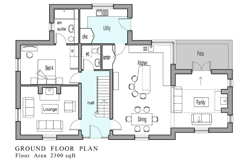 Floorplan 1 of Phase 2 Lakeside Manor Now Released, Lakeside Manor, Carrybridge, Enniskillen