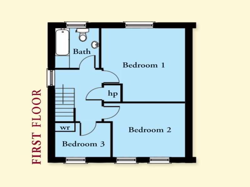 Floorplan 2 of The Bradock, Olivers Close, Ballygalget, Portaferry